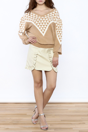 Pinkyotto Geo Print Sweater - Front full body