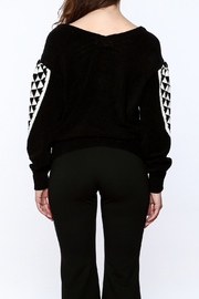 Pinkyotto Geo Print Sweater - Back cropped