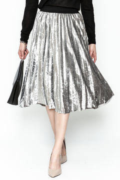 Shoptiques Product: Velvety Pleats Midi Skirt