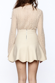 Shoptiques Product: Vintage Lace High Collar Top - Back cropped