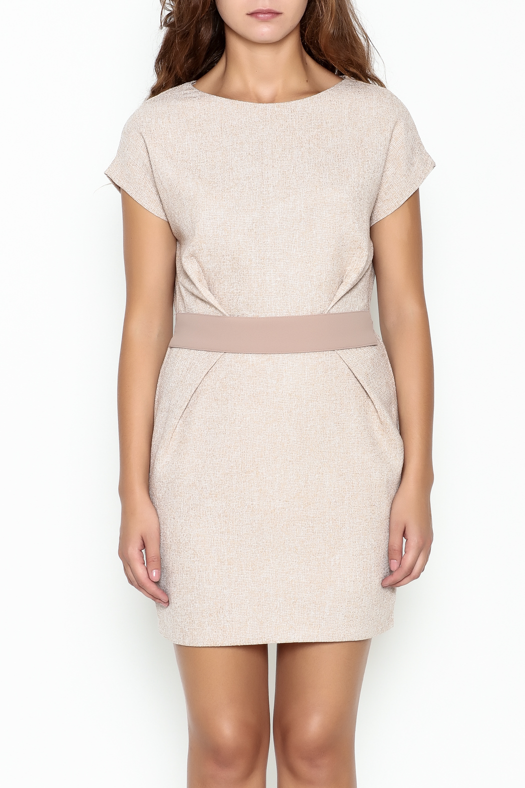 Pinkyotto Waist Pleated Dress - Front Full Image