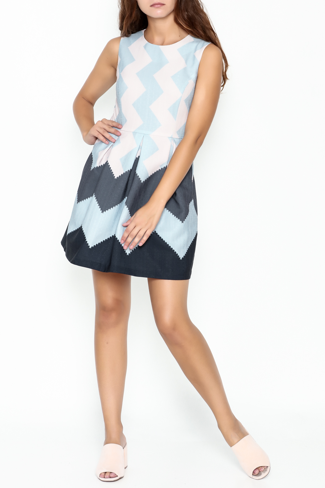 Pinkyotto Zig Zag Dress - Side Cropped Image