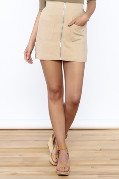 Shoptiques Product: Beige Zip Up Skirt