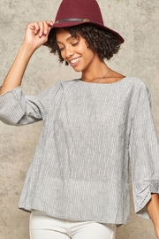 Promesa  Pinstripe 3/4-Sleeve Blouse - Product Mini Image
