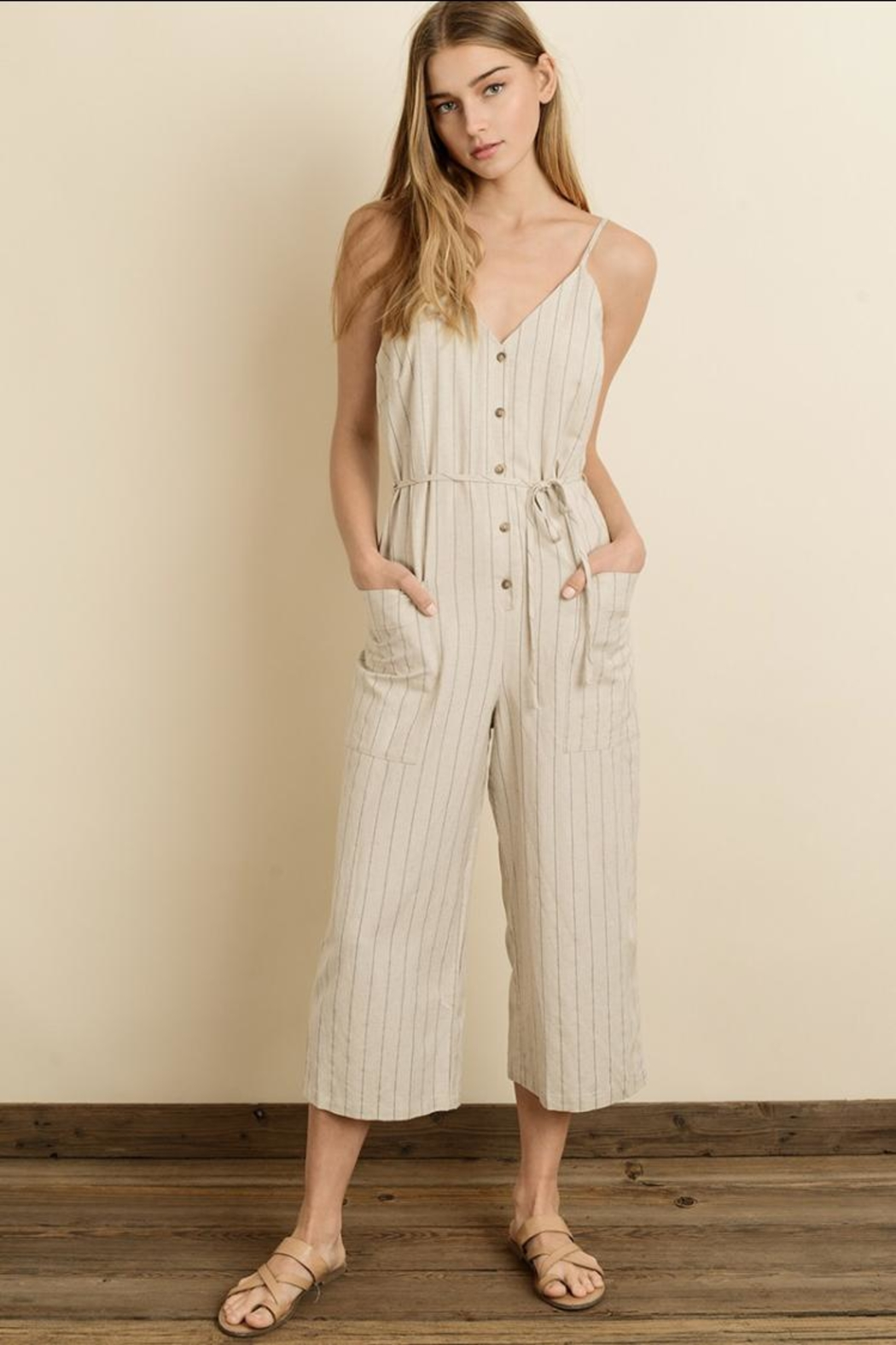 a0c1645d209d dress forum Pinstripe Button-Down Jumpsuit from Los Angeles by ...