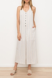 Mystree Pinstripe Crop Jumpsuit - Product Mini Image