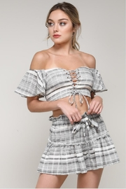 Do & Be Pinstripe Crop Top - Front full body