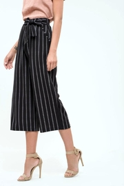 Blu Pepper Pinstripe Culottes Pants - Front full body
