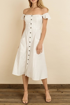 dress forum Pinstripe Flutter Midi - Product List Image