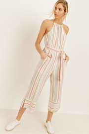 Unknown Factory Pinstripe Halter Jumpsuit - Product Mini Image