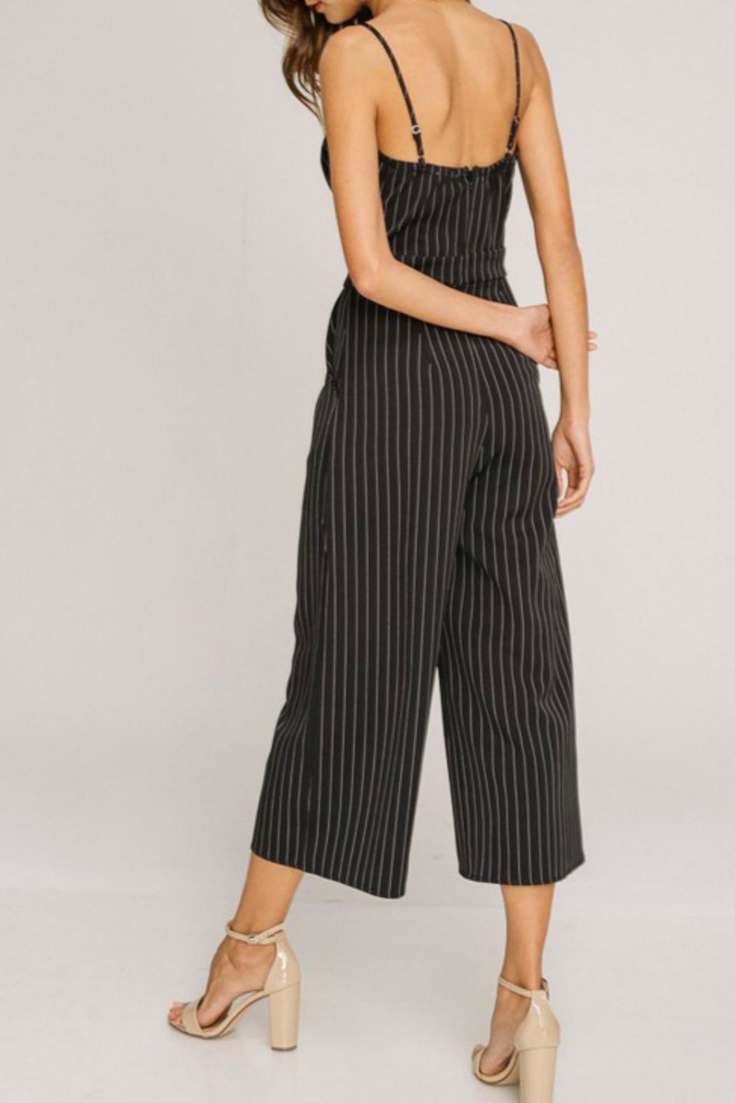 Pretty Little Things Pinstripe Jumpsuit - Front Full Image