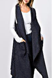 Patricia's Presents Pinstripe Long Vest - Product Mini Image