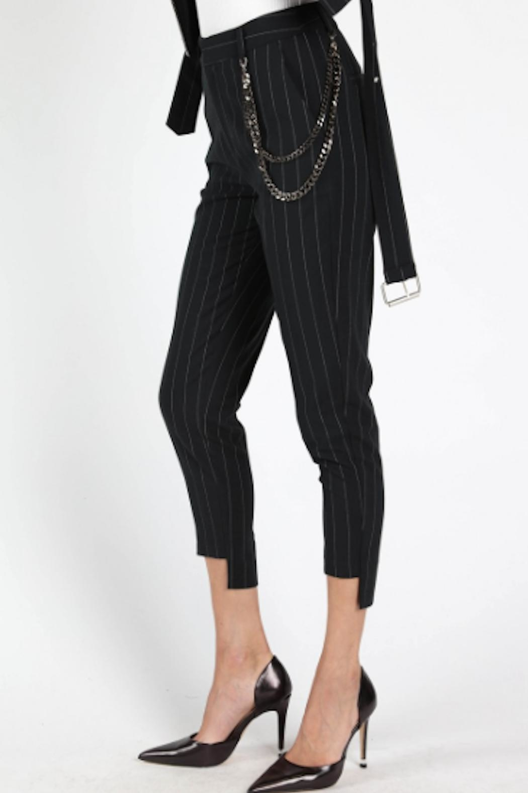 TIMELESS Pinstripe Pants - Side Cropped Image