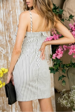 Pretty Little Things Pinstripe Self-Tie Dress - Alternate List Image