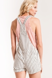 z supply PinStripe Short Overalls - Side cropped