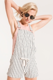 z supply PinStripe Short Overalls - Front cropped