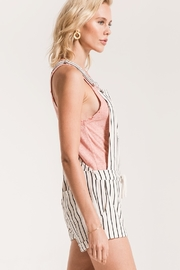 z supply PinStripe Short Overalls - Front full body
