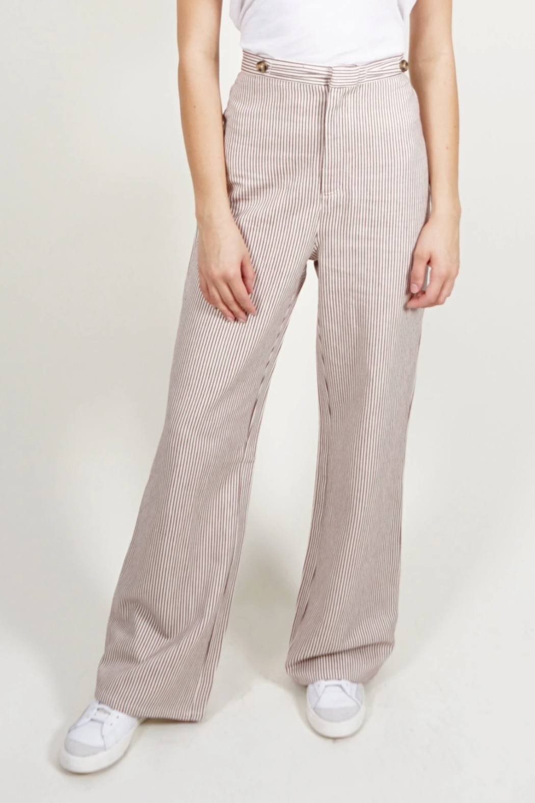 Saint Geraldine Pinstripe Spencer Pants - Main Image