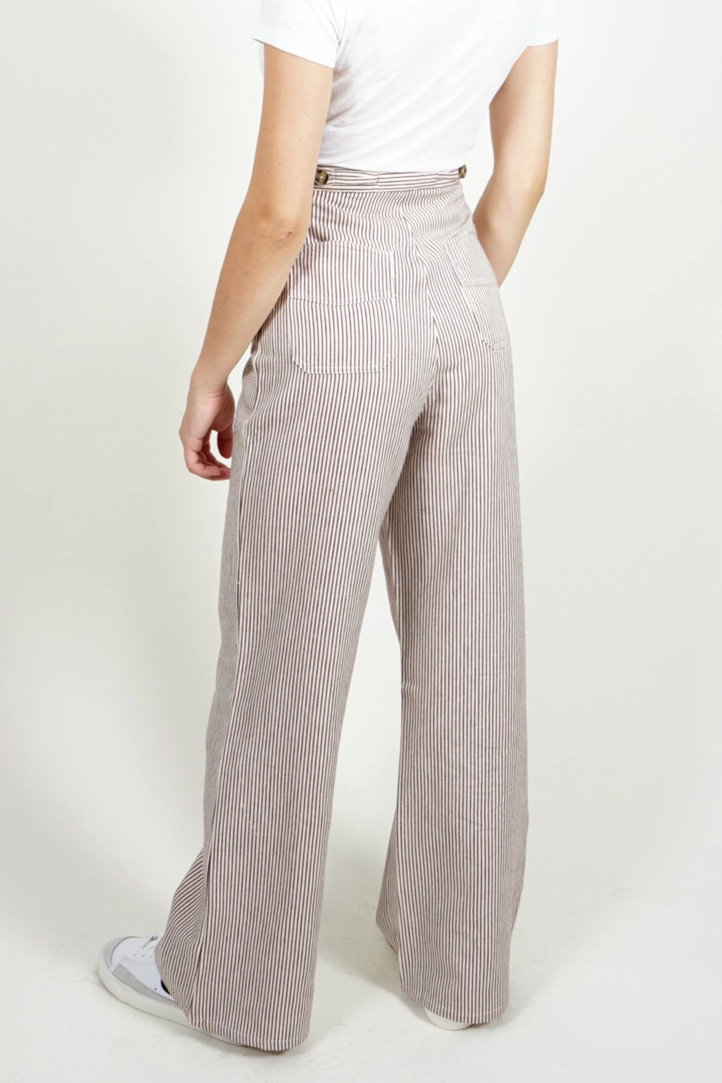 Saint Geraldine Pinstripe Spencer Pants - Front Full Image