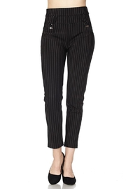 New Mix Pinstripe Stretch Pants - Front cropped