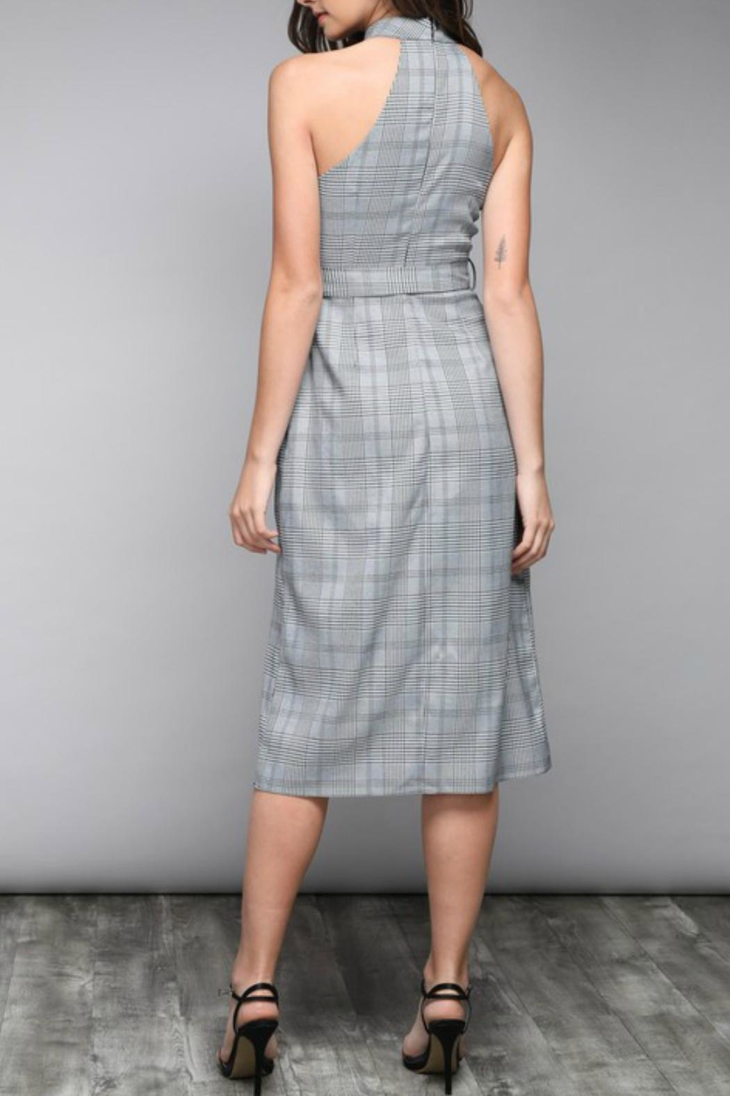 Do & Be Pinstripe Waist-Tie Dress - Side Cropped Image