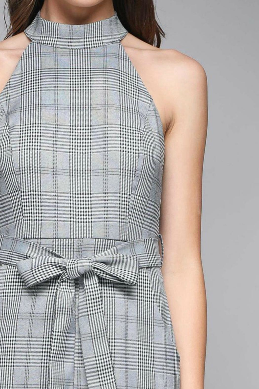 Do & Be Pinstripe Waist-Tie Dress - Back Cropped Image