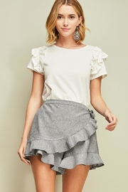 Entro Pinstripe Wrap Skort - Front cropped