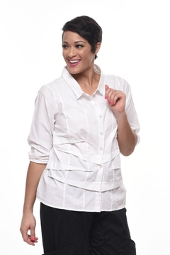 Shoptiques Product: Pintuck Cotton Shirt