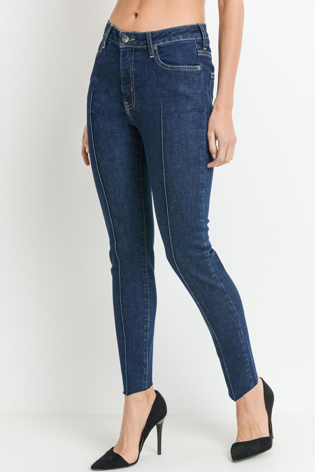 just black Pintuck Front Jeans - Main Image