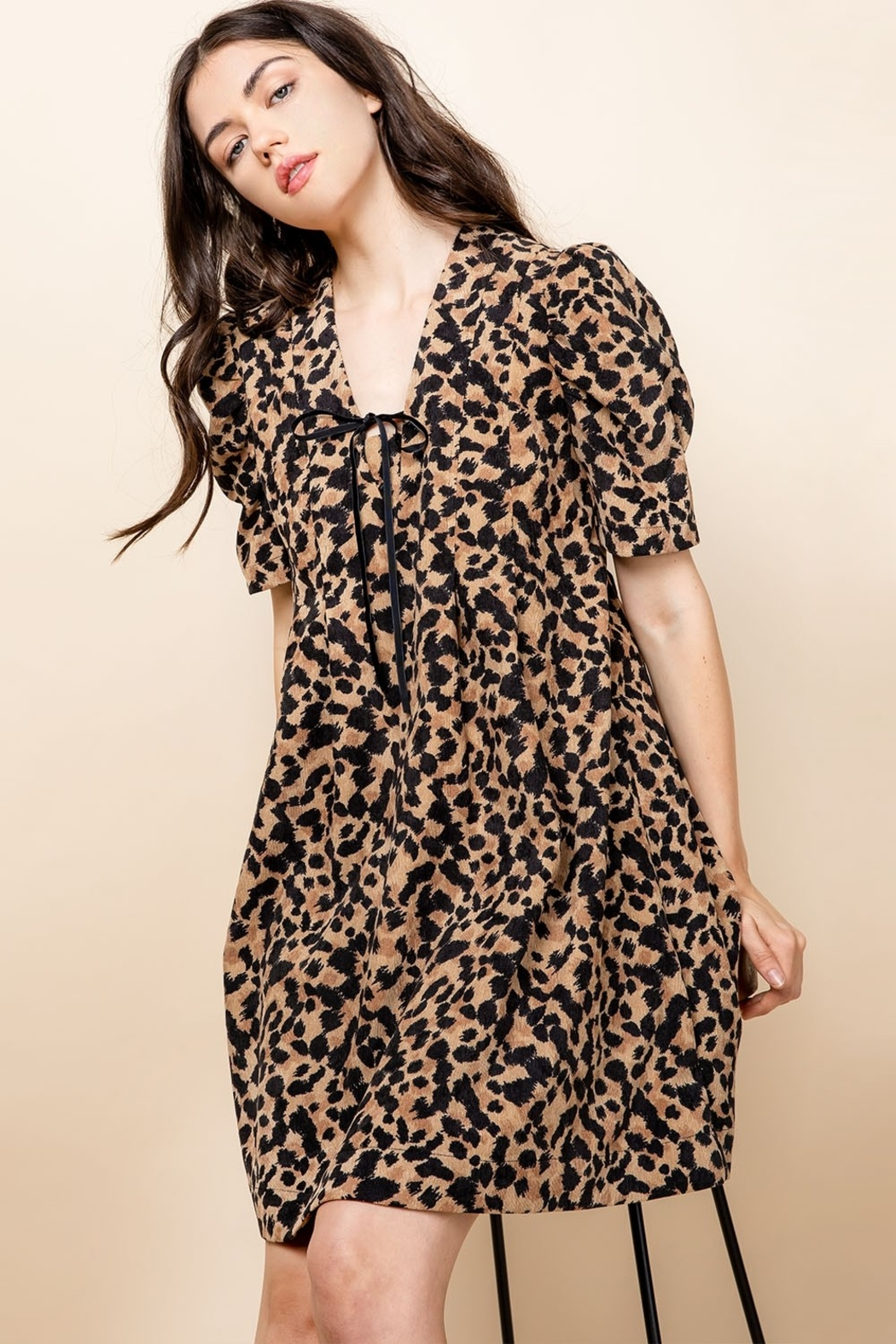 Thml Pintucked Ruched Dress - Side Cropped Image