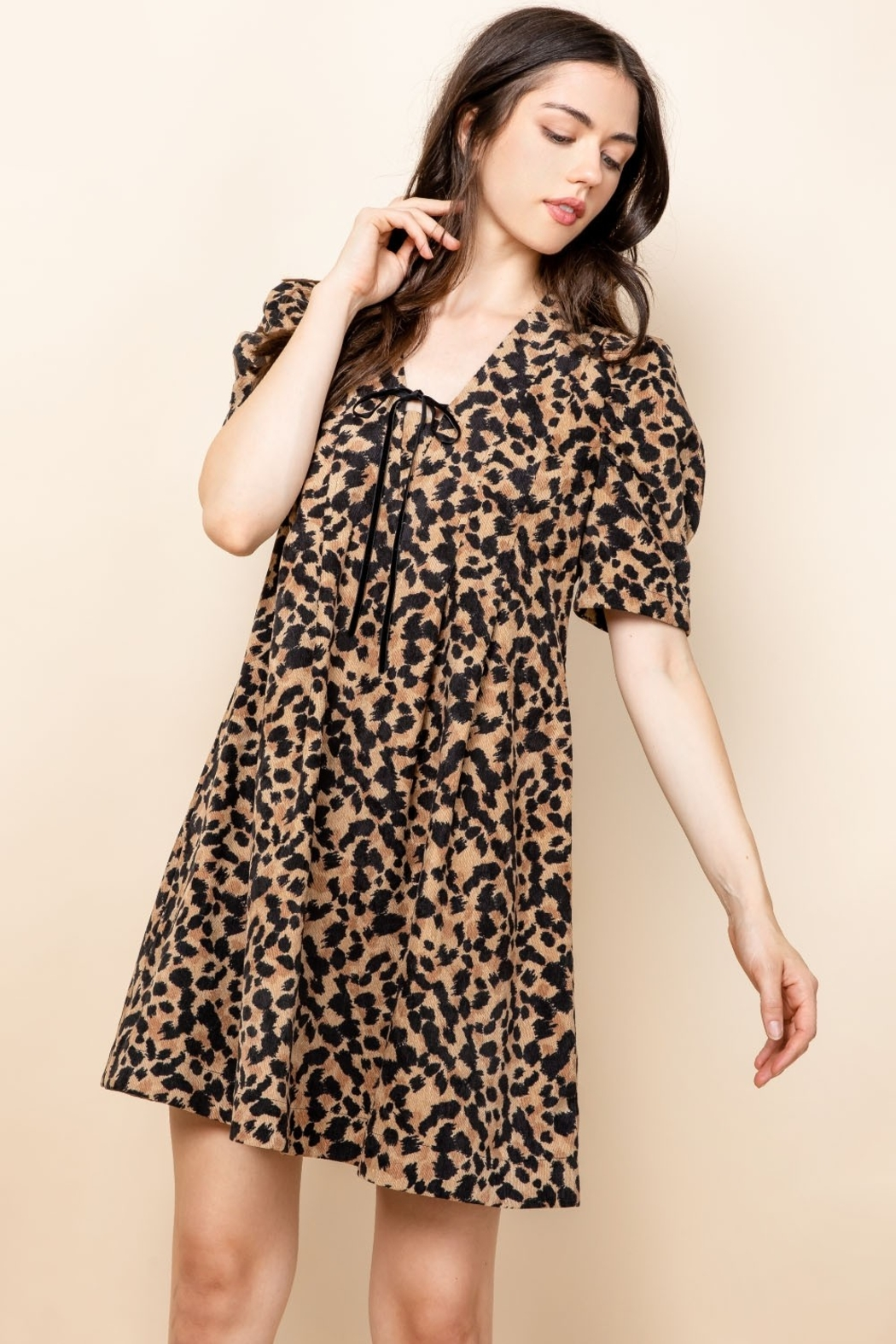 Thml Pintucked Ruched Dress - Main Image
