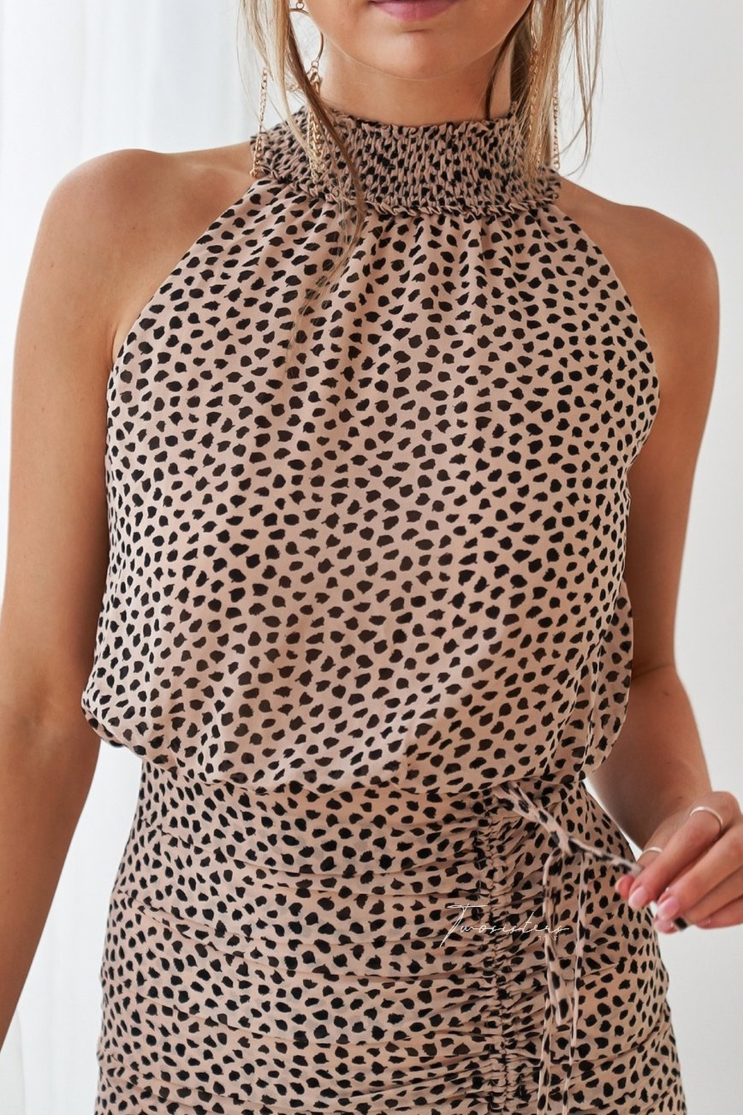 Two Sisters Pip Leopard Dress - Side Cropped Image
