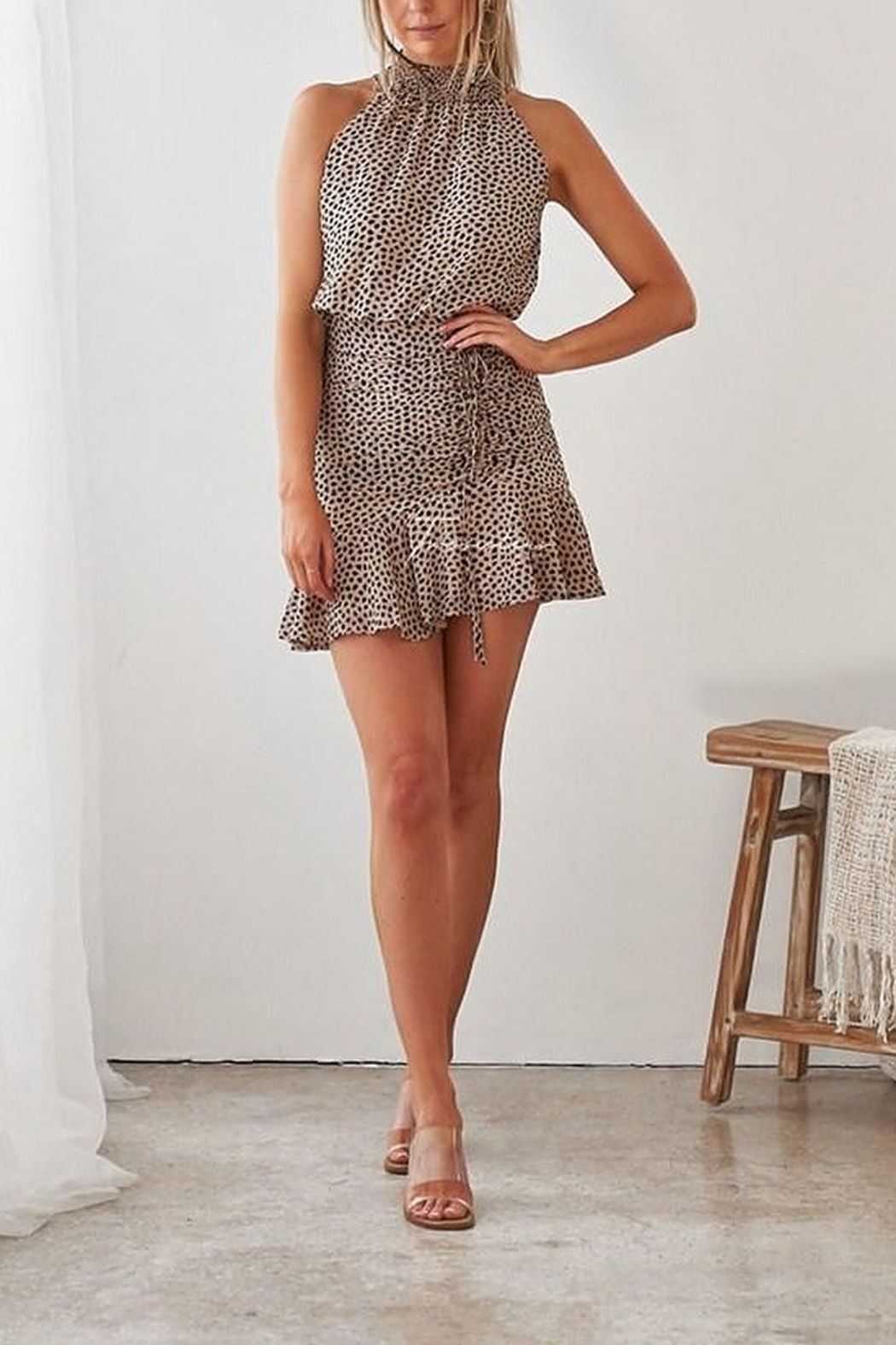 Two Sisters Pip Leopard Dress - Front Cropped Image