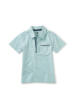 Tea Collection  Piped Polo - Canal Blue - Product List Image