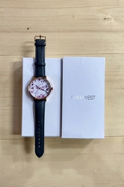 PIPERWEST Floral Minimalist Charcoal Watch - Front full body