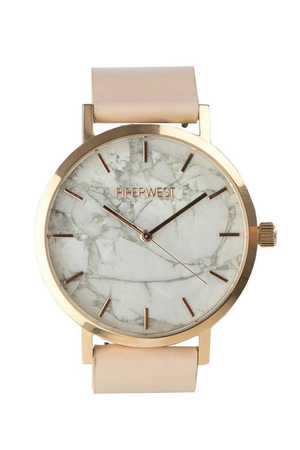 PIPERWEST Marble Rose Gold - Front Cropped Image