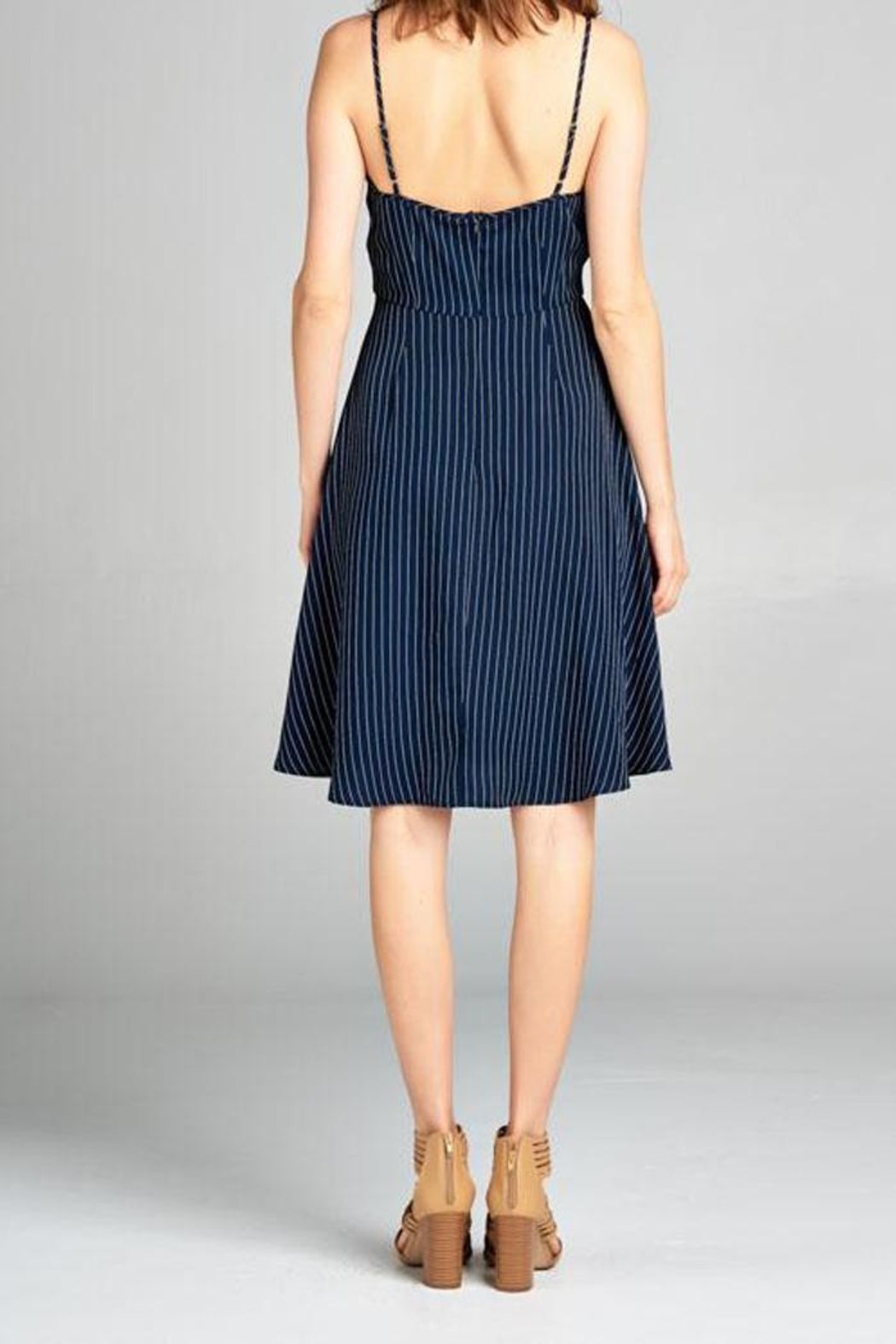 Tresics Pippa Fit-And-Flare Dress - Back Cropped Image