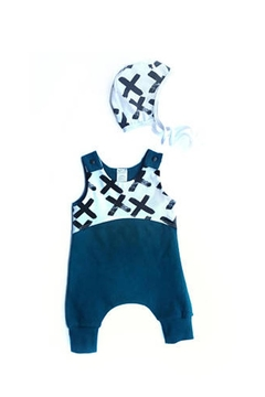 Pippin Hill Designs Baby Teal Romper - Alternate List Image