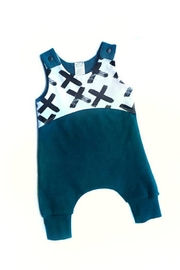 Pippin Hill Designs Baby Teal Romper - Product Mini Image