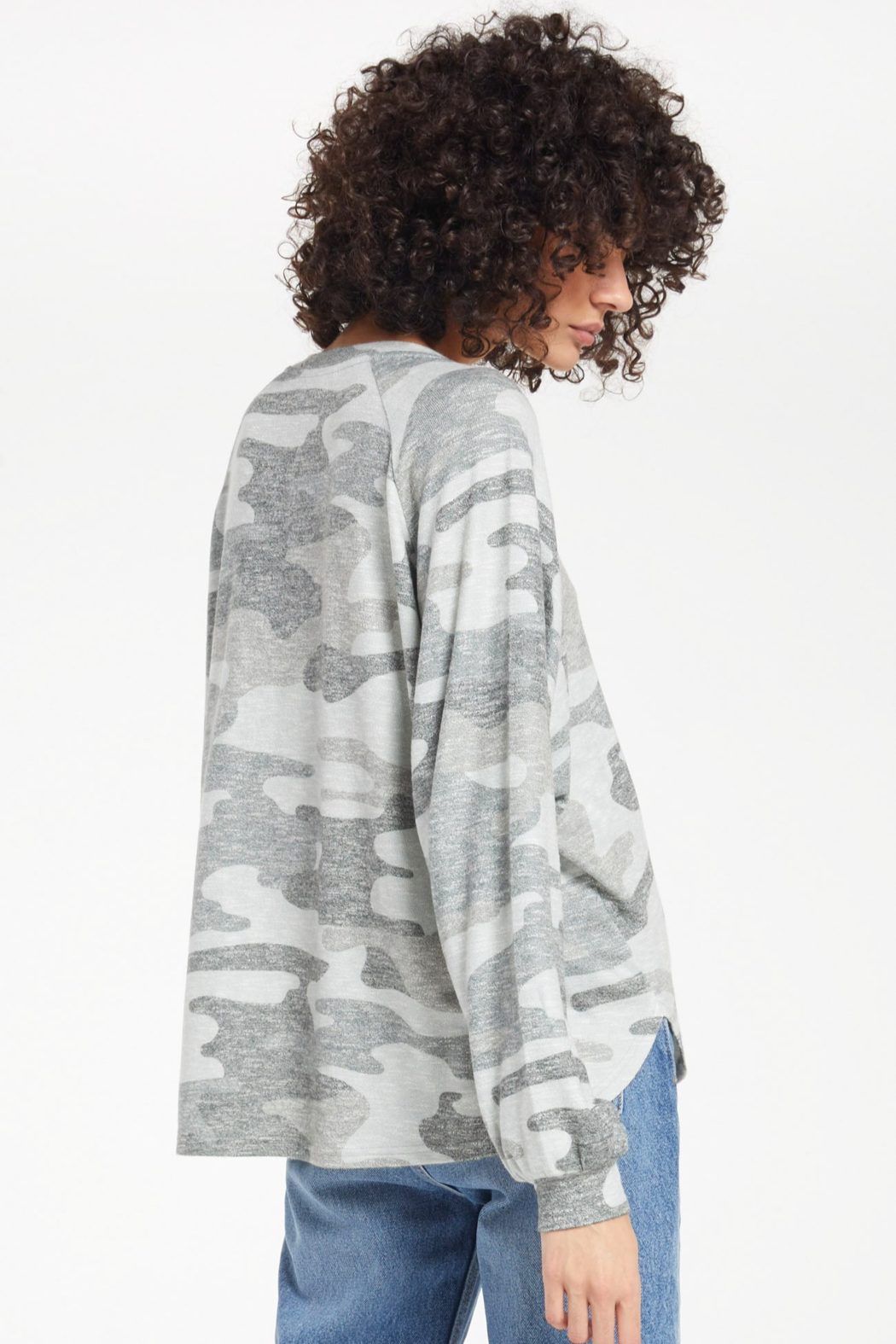 z supply Pira camo slub sweater - Side Cropped Image