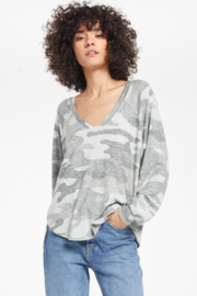 z supply Pira camo slub sweater - Back cropped