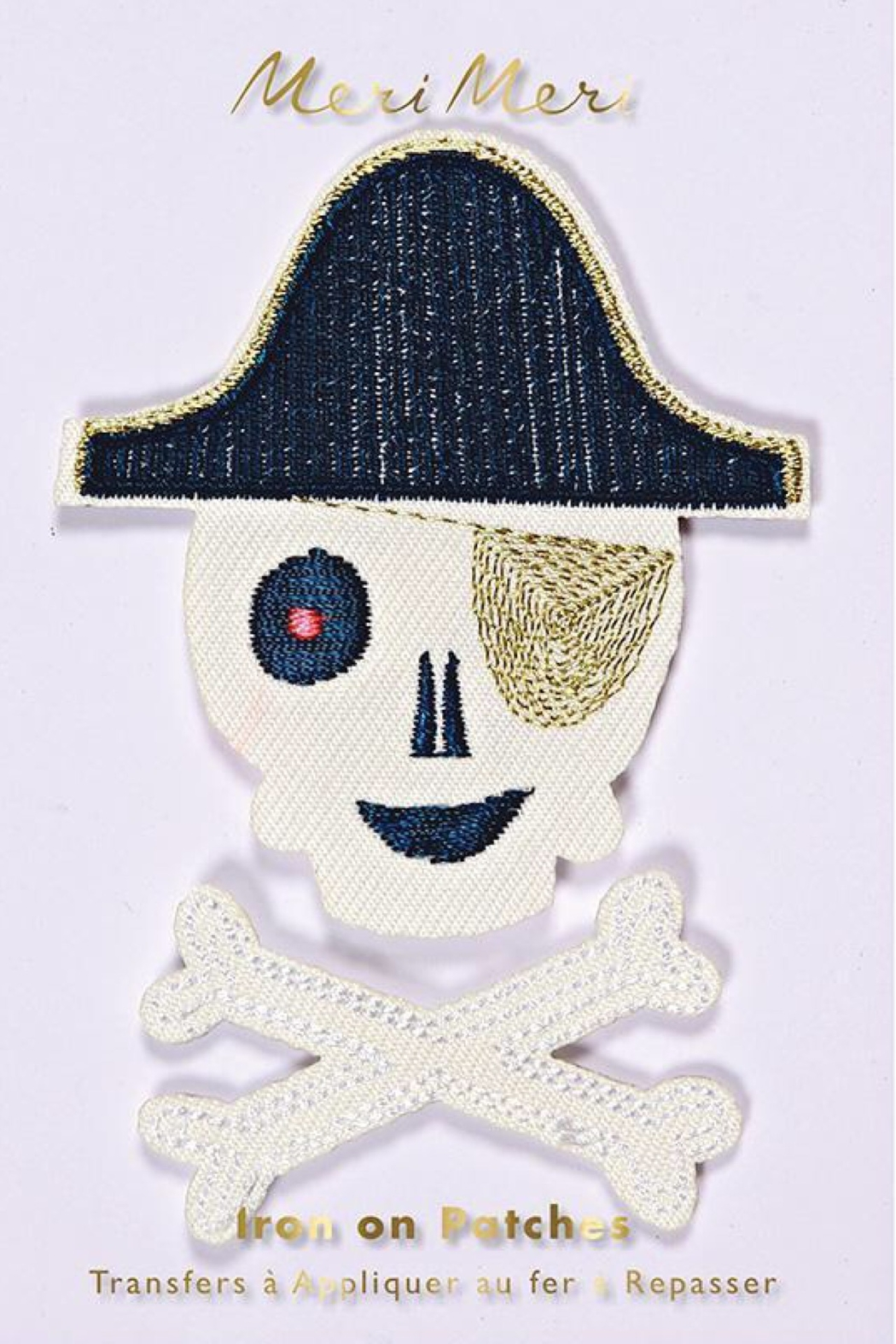 Meri Meri Pirate Embroidered Iron On Patches - Main Image