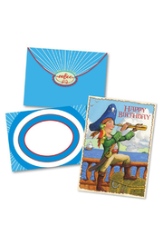 Eeboo Pirate Happy Birthday Card - Product Mini Image