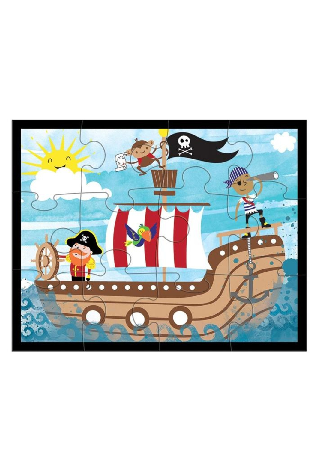 Mudpuppy Pirates-Ahoy! Pouch Puzzle - Front Full Image