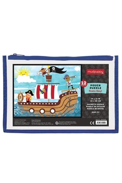 Mudpuppy Pirates-Ahoy! Pouch Puzzle - Product List Image