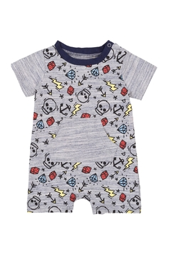 Deux Par Deux Pirates Allowed Romper - Product List Image