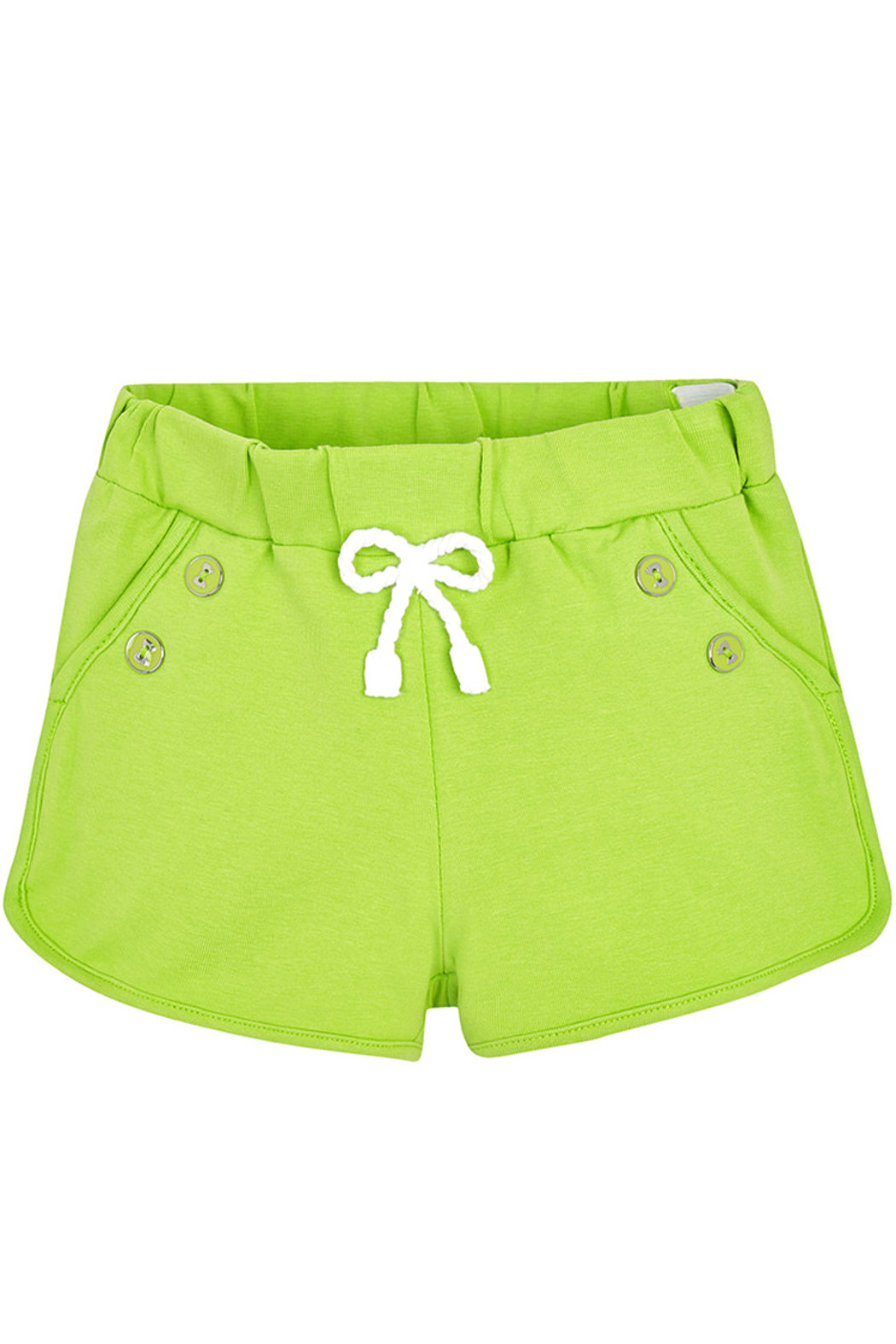 Mayoral Pistachio Knit Shorts - Front Cropped Image