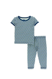 Kickee Pants Pistachio Short-Sleeve Pajamas - Front cropped