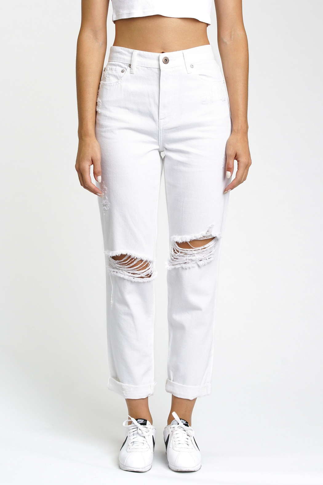 Pistola Boyfriend Jeans - Front Cropped Image