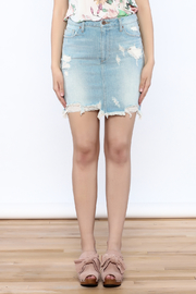 Pistola Distressed Denim Skirt - Side cropped